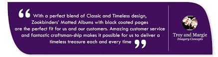purple photo album crafted wedding album matted albums zookbinders