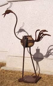 iron and rocking bird garden ideas