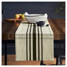 woven plaid table runner black hearth with