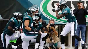 eagles pull out home run celebration on third td vs cardinals