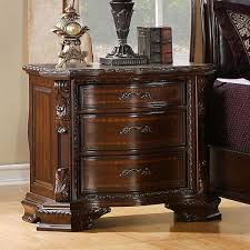 south yorkshire baroque style brown cherry nightstand u2013 24 7 shop