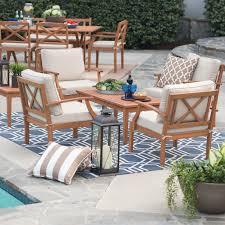 Conversation Patio Furniture Sets - belham living brighton outdoor wood deep seating conversation set