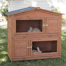 Rabbit Hutch With Run For Sale Trixie 2 Story Rabbit Hutch With Attic Extra Large Hayneedle