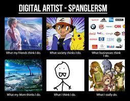 Sm Meme - meme digital artist spanglersm by hannahgrace art on deviantart