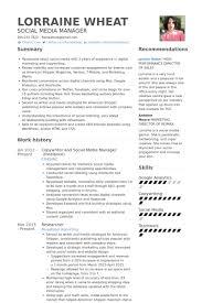 social media resume social media manager resume letter exle