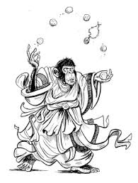 daily sketches art by chris daily kung fu masters and monkeys