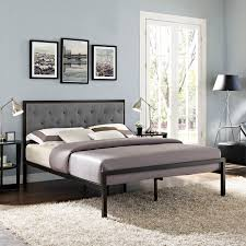 Gray Platform Bed Modway Mia Fabric Bed Frame In Brown And Gray Beyond Stores