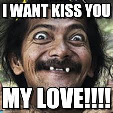 i want kiss you ha meme on memegen