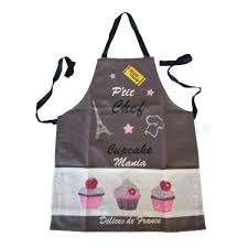 tablier de cuisine enfant tablier de cuisine enfant cupcake p chef gris provence