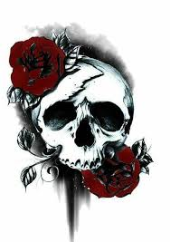 skulls and skeletons skull and roses skulls