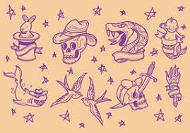 free old tattoo icons vector download free vector art