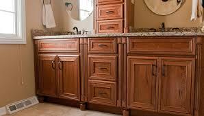 Real Wood Vanities Brown Real Wood Vanity With Storage Drawers Granite Coutnertop