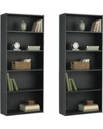 Particle Board Bookcase Amazing Deal On Mainstays 5 Shelf Wood Bookcase Set Of 2 Mix