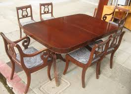Mahogany Dining Room Furniture Dining Room Duncan Phyfe Double Pedestal Mahogany Dining Table