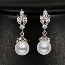 bridesmaid pearl earrings bridal pearl earrings promotion shop for promotional bridal pearl