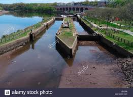 r aration canap northern terminus of the delaware and raritan canal in stock