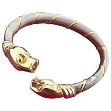 cartier bracelet steel images Metallic yellow gold cartier bracelet vestiaire collective jpg
