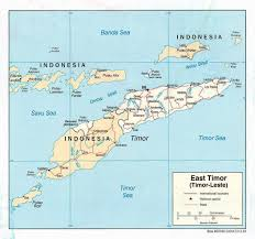 Political Map Of East Asia by Maps Of East Timor Detailed Map Of East Timor Timor Leste In