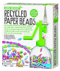 making green amazon com 4m recycled paper beads kit toys u0026 games
