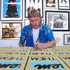 meet the artist live print signing with ornamental conifer we