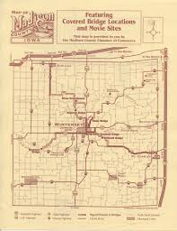 bridges of county map just the corner iowa