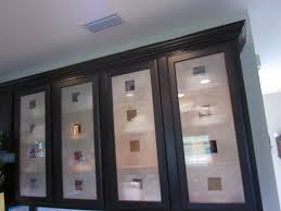 Glass Kitchen Cabinet Doors Etched Glass Kitchen Cabinet Doors