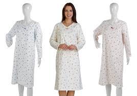 slenderella womens floral brushed cotton nightdress ladies long