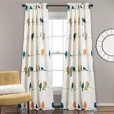 Window Curtain Decor Lush Décor Rowley Birds Room Darkening Window Curtain Panel Set