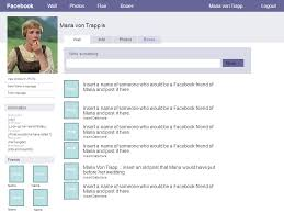 create a facebook page of maria von trapp u2013 using this template