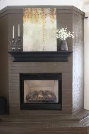 fireplace decorating painting brick fireplace ideas for the diyer