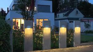 modern outdoor lighting fixture design ideas with four pillars