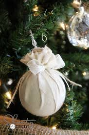 diy ornament easy fabric balls shanty 2 chic