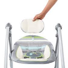 Amazon Baby Swing Chair Amazon Com Ingenuity Power Adapt Portable Swing Vesper Grey Baby