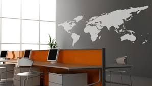 Stick On Wall World Map Wall Decal Vinyl Wall Sticker Decals Home Decor Art