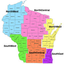 Map Of Southeastern Wisconsin by District Map Chiropractic Society Of Wisconsin