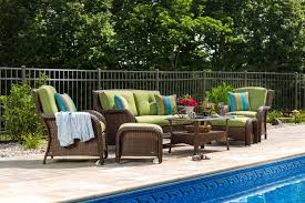 Swimming Pool Furniture by Sawyer 6pc Resin Wicker Patio Furniture Conversation Set Green
