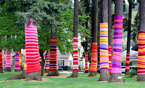 yarn bombing is the new graffiti but is that ok