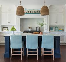 jeffrey kitchen islands coastal white kitchen with navy blue island home bunch