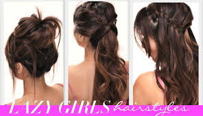 Quick Easy Hairstyles For Girls by 4 Easy Lazy Girls Back To Hairstyles Cute Hairstyle