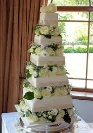 5 tier wedding cake wedding cakes 5 tier ivory wedding cake 5