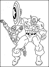 superhero marvel captain america coloring pages womanmate com