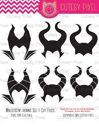 halloween horns monogram frames svg spooky svg maleficent horns
