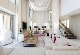 living room contemporary living with high ceilings decorative