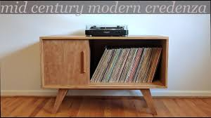 building a mid century modern style credenza record cabinet youtube