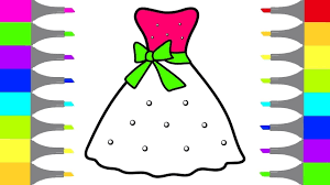 how to draw barbie dress coloring pages art colors for kids draw