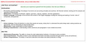 Resume Skills And Abilities Example by Accountant Knowledge U0026 Skills