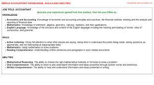 accountant knowledge u0026 skills