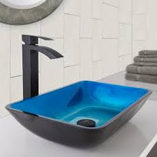 vigo vgt1032 rectangular turquoise water glass vessel sink and