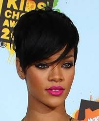 shortcuts for black women with thin hair black women short hairstyles gallery rihanna short black haircut