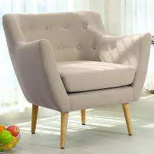 fauteuil et canapé fauteuil style scandinave oslo tissu beige fauteuil scandinave